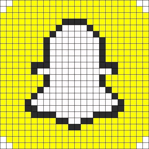 Snapchat Perler Bead Pattern / Bead Sprite