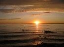 Sunset at Slave Lake Alberta Canada