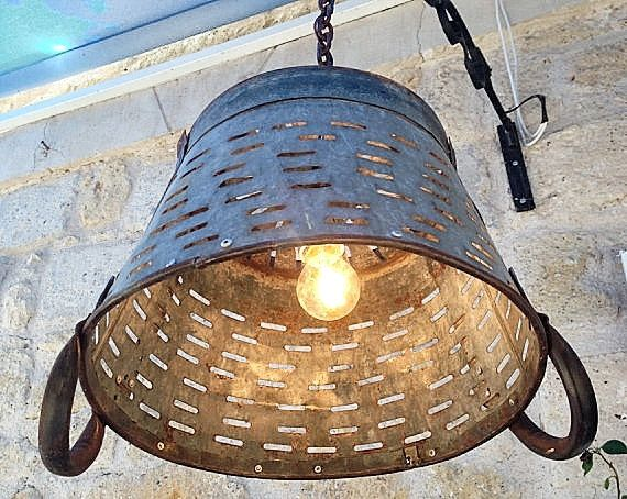 Metal Lighting Basket Pendant LightingRustic LightingLight FixtureMetal Industrial Lighting & 54 best Lighting images on Pinterest | Rustic industrial ... azcodes.com