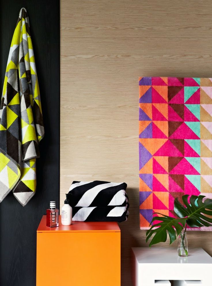 Best Ziporah Towels The First Collection From The Designer Of - Orange patterned towels for small bathroom ideas