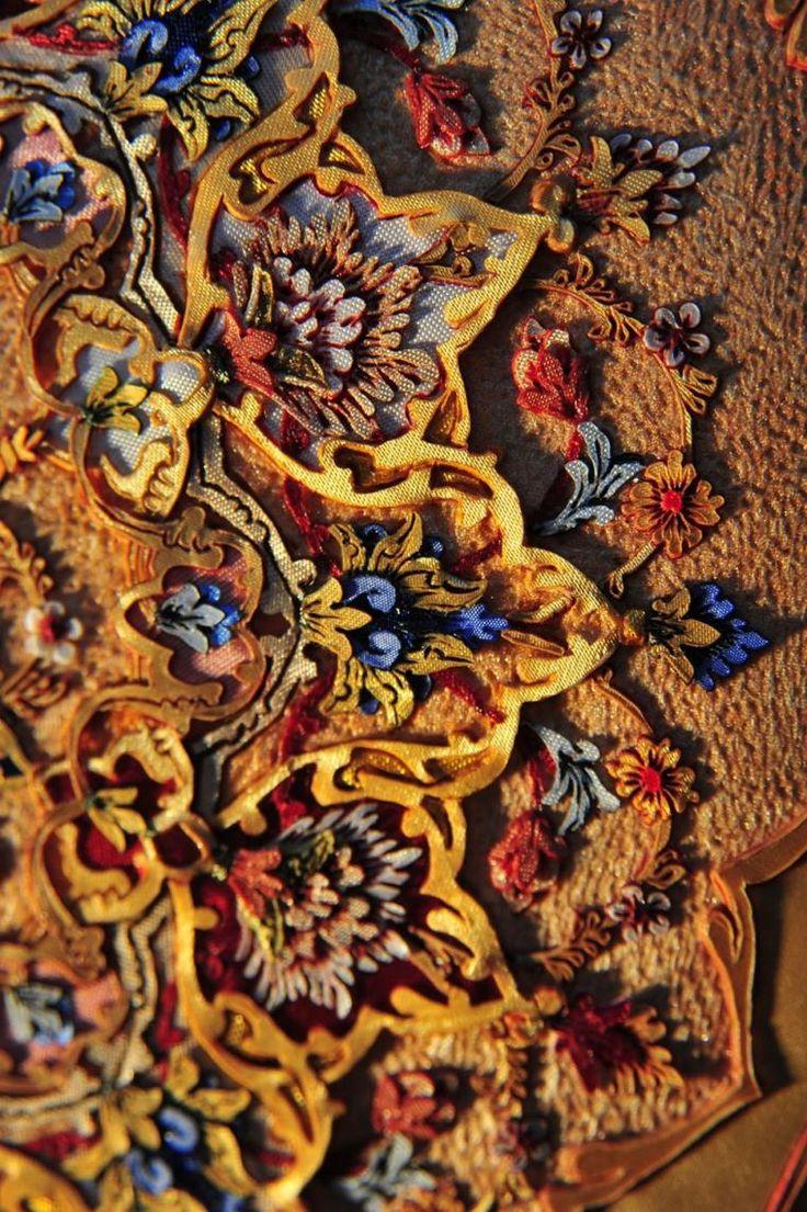 иранское искусство рисования огнём и тканью