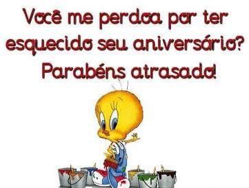 Tweety Parabéns Atrasado #felicidades #feliz_aniversario #parabens