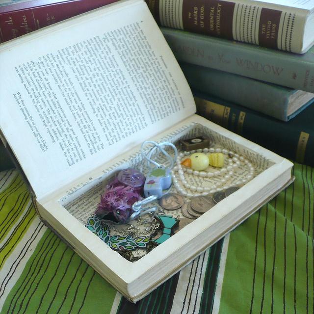 DIY Book Safe - recycle a vintage book.