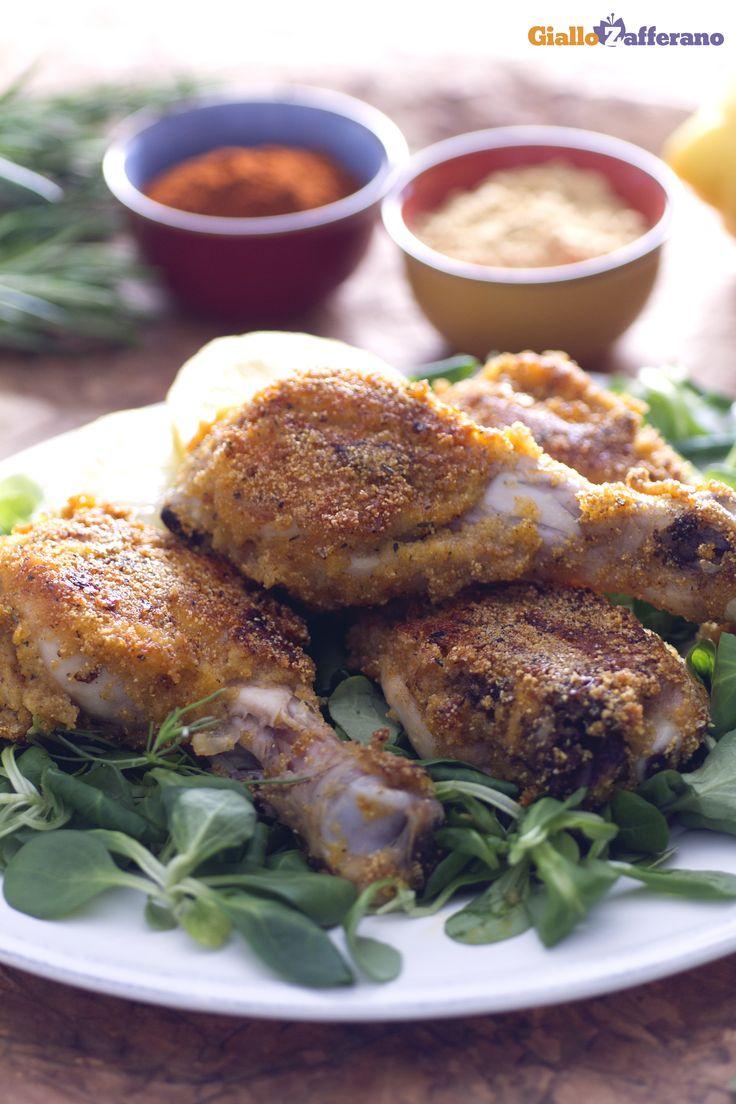 Le COSCE DI #POLLO (crispy chicken drumsticks) sono la parte più ambita e contesa a tavola! In questa #ricetta diamo loro un gusto alquanto croccante. #GialloZafferano #Italianfood #Italianrecipe
