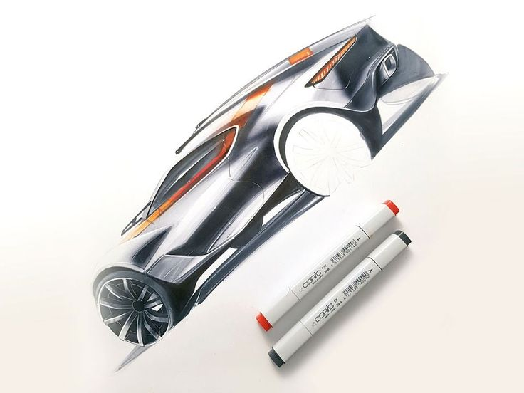 Car marker sketching time lapse video by Orhan Okay