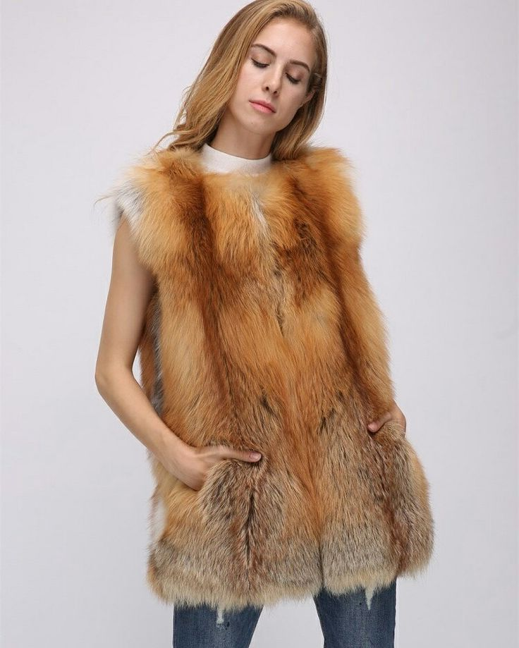 red fox fur vest ,USD350.Better price and more information ,please contact us. eileenhou.lvcomeff