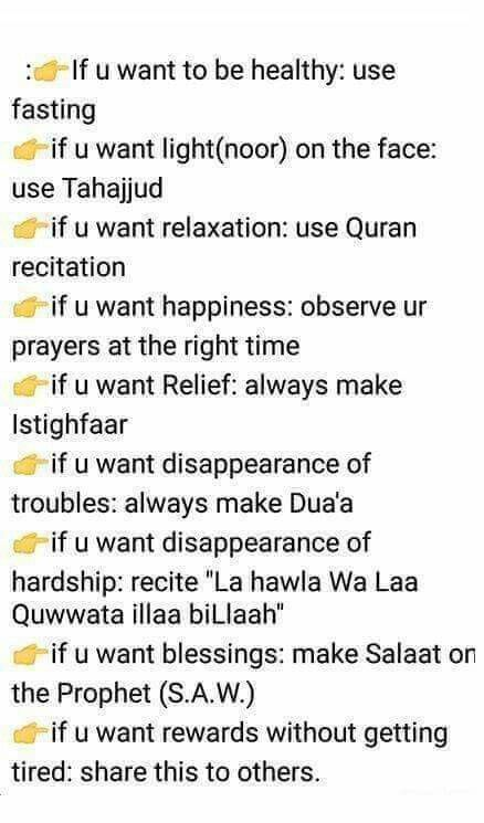 Good piece of advice before Ramadan ☺️