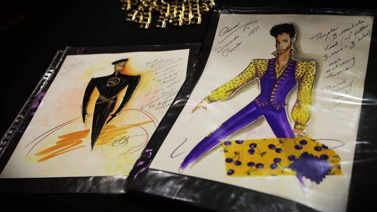 Prince sketches on display @ Mall of America exhibit 2016