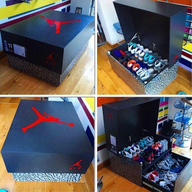 Sneakerheads, Heads up: Der in London lebende Designer und Tischler Woodist Punk offeriert die zur Zeit wohl dopeste Möglichkeit Kicks aufzubewahren. Im Format 100cm x 70 x 46 fertigt der Dude hölzerne Kisten inkl. ausziehbarer Schublade mit Platz für etwa 16 Paar Schuhe… im Design bekannter Sneaker-Boxen von z.B. Nike, Air Jordan oder New Balance(!). Wie absolut perfekt ihm das... Weiterlesen