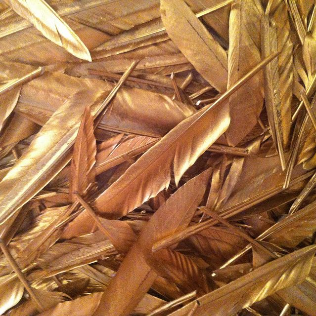 golden feathers ...now go forth and share that BOW & DIAMOND style ppl! Lol. ;-) xx