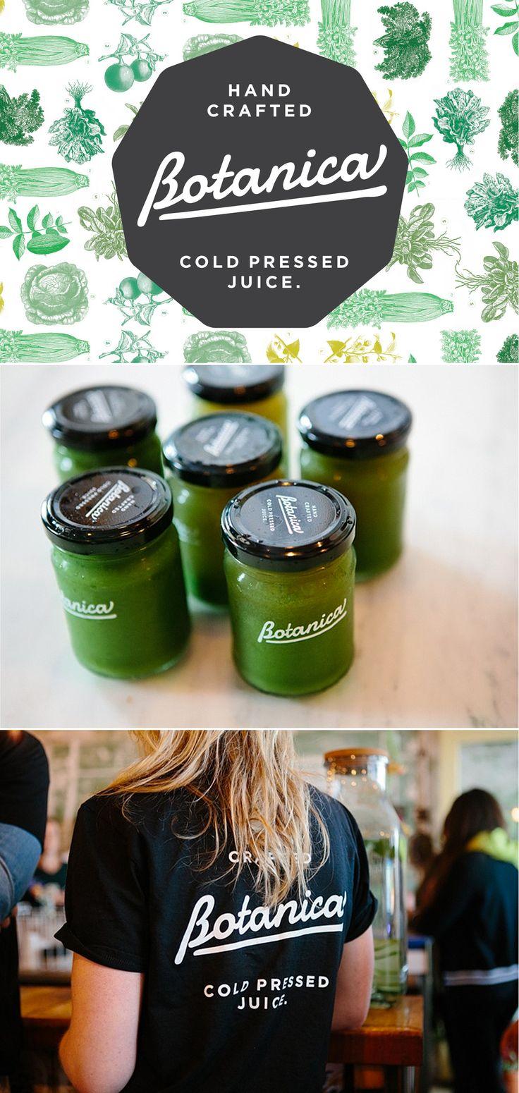Botanica by Ascender #brand #branding #identity #design #visual #graphic #logo #logotype #type #typography #typographic #organic #green #juice #glass #jar #bottle #monochromatic #monochrome #black #white #cold #pressed