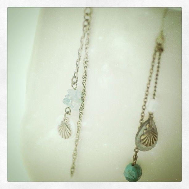 Dangling pierced earrings