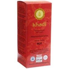 Khadi Растительная Красная краска для волос - чистая хна, 100 г