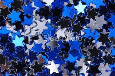 Blue and Silver Stars Macro Royalty Free Stock Photo