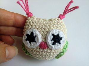 Háčkovaná sovička, owl crochet pattern