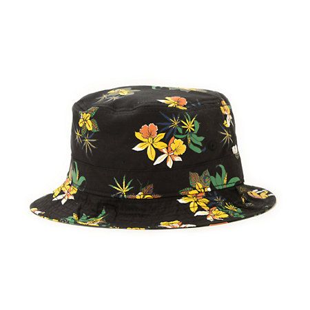The Obey Sativa Black Floral bucket hat has a soft cotton construction for lightweight comfort that provides great shade. Improve your look with the all-over floral pot leaf print on a black bucket hat with a wide soft brim to shade your eyes and embroide