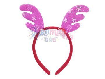 Noel Geyik Boynuzlu Yılbaşı Pembe Taç
