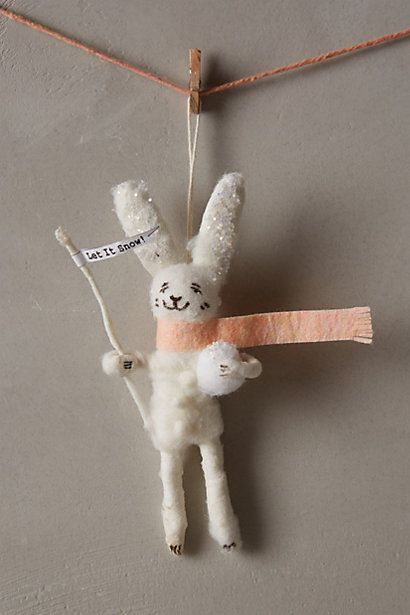 Anthropologie Arctic Explorer Ornament - I die over this bunny! #anthrofave