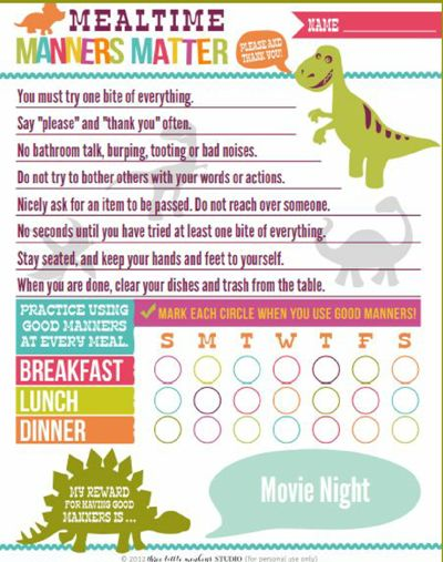 Teaching manners to our Tiger Scouts can be fun and easy using this amazing dinosaur themed Manners Matter Reward Chart. Made by Three Little Monkey's Studio.
