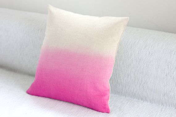 Pink Dip Dye / Ombre Cushion Cover  Hand Dyed by JureamBox on Etsy, £30.00