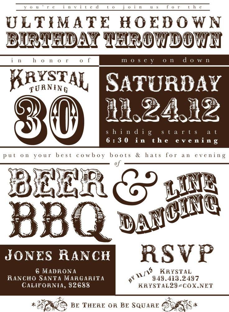Western Invitations