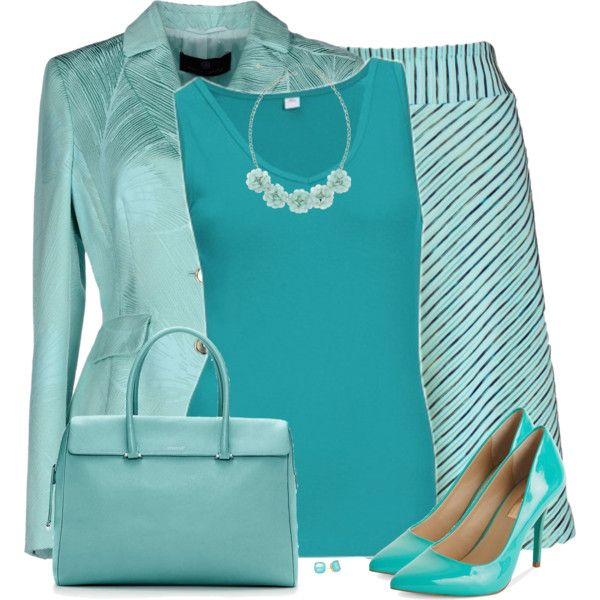 Beach Colors by daiscat on Polyvore featuring moda, Rena Lange, INC International Concepts, Tiffany & Co., Decree, Kate Spade and s.Oliver