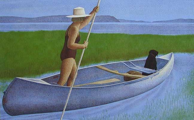 Alex Colville, the great Canadian painter who captured the vastness of place and scape in Canada.