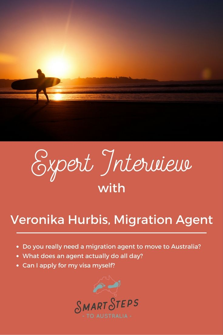 Read this interview with Migration Agent, Veronika Hurbis of Sort Out My Visa about emigrating to Australia and why it's a good idea to appoint an agent to help with the application.