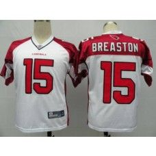 Cardinals #15 Steve Breaston White Stitched NFL Jersey