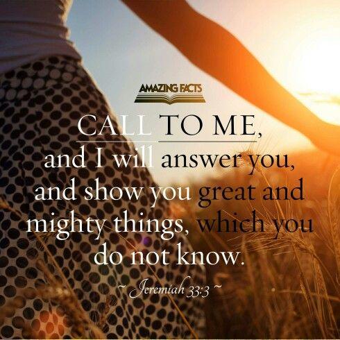 Jeremiah 33:3 | Bible Scriptures | Scripture pictures ...
