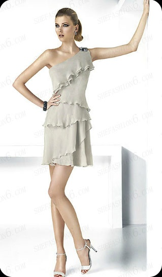 http://www.shefashion6.com  Item 2012SP0022   2012 One Shoulder Mini Length Chiffon Party Dress; Real top fabric, competitive price!!!