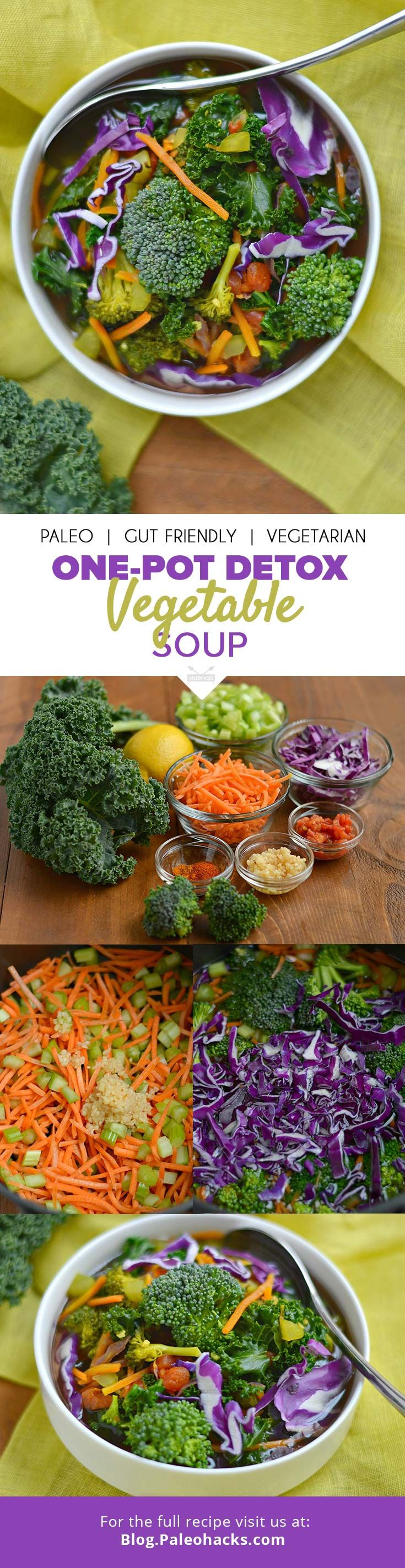 This vibrant, immune-boosting soup has a rainbow of vegetables and herbs, nourishing your body from the inside out! Get the recipe here: http://paleo.co/onepotvegsoup