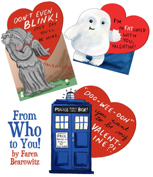 Doctor Who valentines; these need to exist!