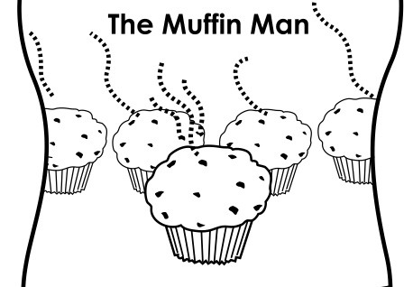 muffin man coloring page - 1000 images about mini books on pinterest