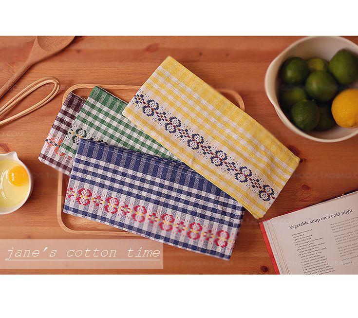 Винтажный чай полотенце стиль французкий кухня ткань 40 * 68 см/шт. хлопок ткань для кухня салфетка хлопок