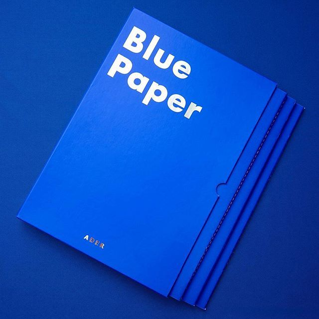 Blue paper  @inventory_space   #ader#adererror