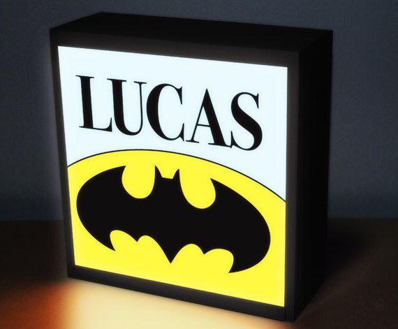 Batman  8 x 8 night light night lights baby by DreamGlowLightbox, $49.00