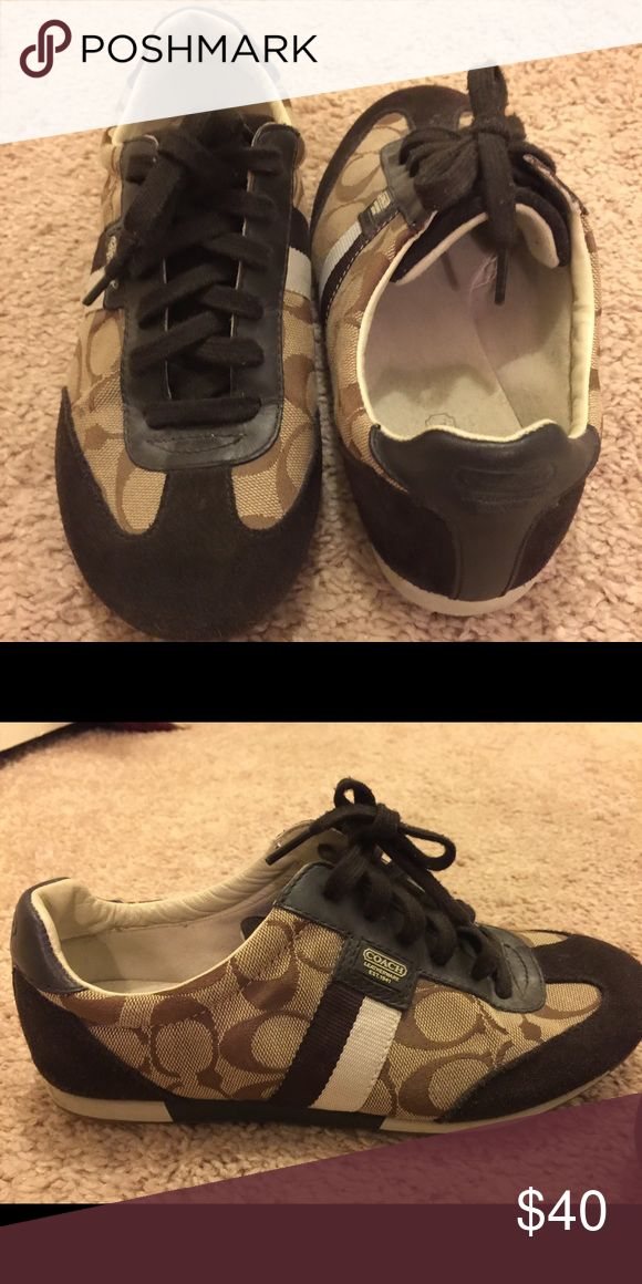 Coach tennis shoes Worn once- Coach tennis shoes Coach Shoes Sneakers