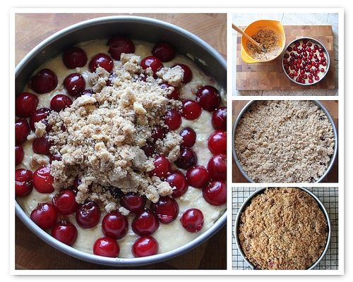 Sour Cherry Coffee Cake by whitneyinchicago, via Flickr