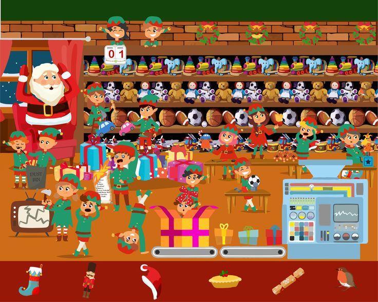 Find Santas Items, Christmas Brain Teaser Brain teasers
