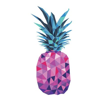 Purple Pineapple Art Print
