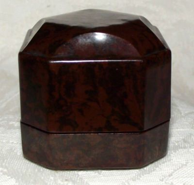 Antique Vintage Art Deco Bakelite Jewellery Case Ring Box & 38 best Bakelite Boxes for