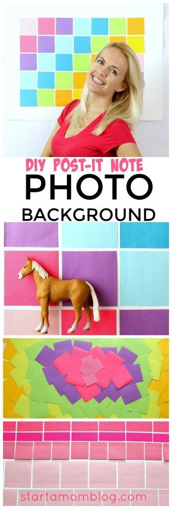 DIY Post It Note Photo Background - super duper simple way to make your own photo background for under $5! Gorgeous and pretty photo backdrop!