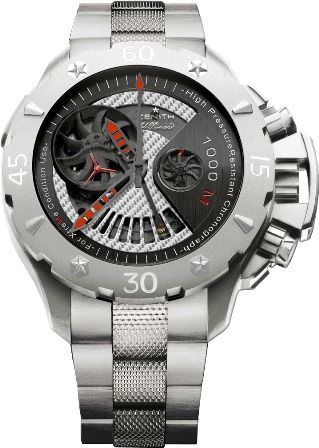 Zenith Defy Xtreme Open El Primero Stealth Men Watch. LIMITED EDITION. Numbered 9 of 100 on Caseback. HOLIDAY SALE PRICE ! IN STOCK ! BRAND NEW. - affordable mens jewelry, mens online jewelry stores, mens silver jewelry cheap