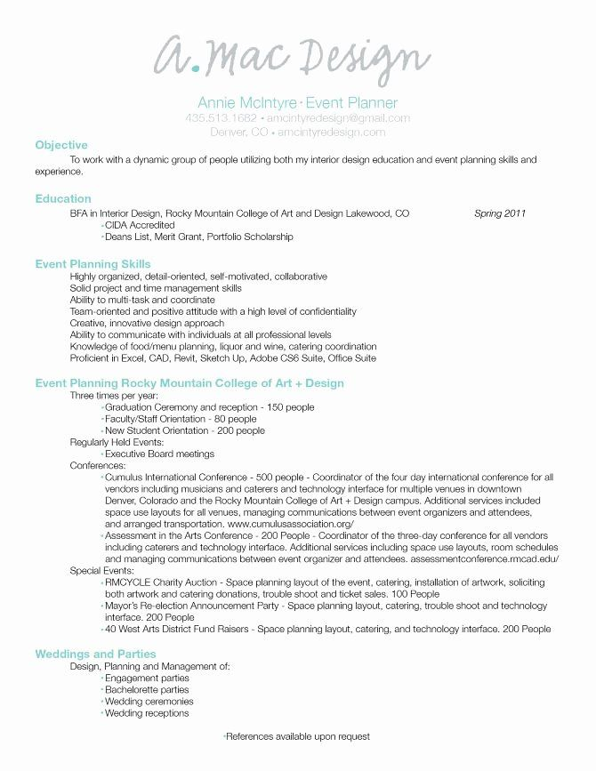 Event Coordinator Assistant Resume Best Of 18 Best Resume Ideas For Event Planner Images On Pinterest In 2020 Event Planning Resume Event Planner Resume Event Planner