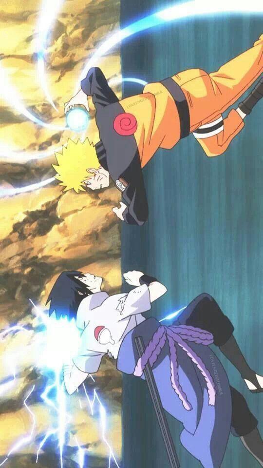 Sasuke and Naruto Tão inteligentes que acabou custando seus braços