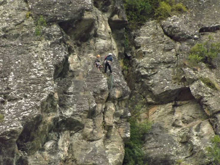 Rock climbing in Kingston. Southland NZ