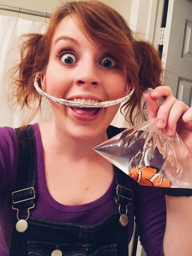 Darla from Finding Nemo: | 35 Borderline Genius Halloween Costumes For Movie Lovers