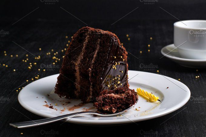 chocolate cake by elena.zaharchenko on @creativemarket