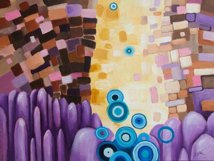 DEFILE - original art, contemporary art, acrylic on canvas, art for sale, jakub jecminek, wall decor, handmade picture by JakubJecminekArt on Etsy